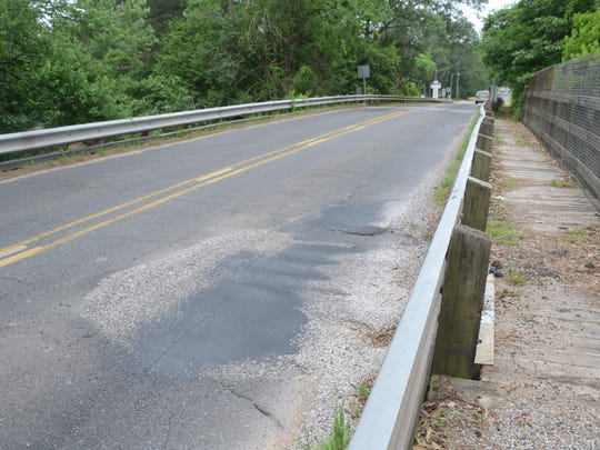 "This railroad overpass on Military Highway in Pineville is one of more than 1,800 bridges in Louisiana rated as ""structurally deficient."" This does not mean a bridge is unsafe, but one or more of its components are in need of repairs or replacement."