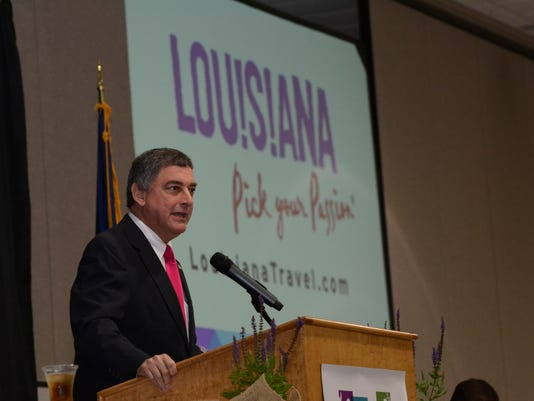 ANI Tourism Event Lt. Gov. Jay Dardenne speaks at the Tourism Awareness & Awards luncheon held Friday, May 8, 2015 at the Alexandria Riverfront Center. Dardenne is touring the state as part of a statewide expedition to celebrating National Tourism Week a
