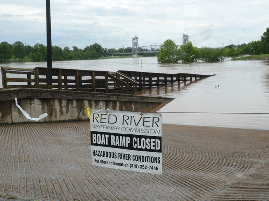 High water on the Red River has closed all of the Red River Waterway Commission public boat launches, including the one in Alexandria (pictured) near Upper Third Street.