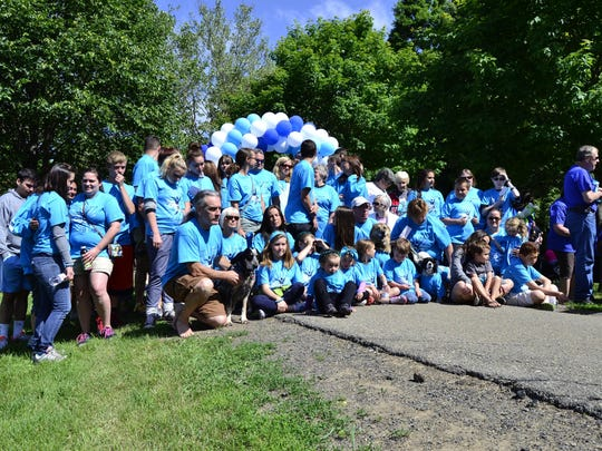 Connie's Crew-Saders, one of the biggest teams at the 13th annual Stepping Out to Cure Scleroderma walk in Otsiningo Park on Sunday.