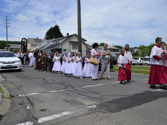 A procession during the St. Anthony's St. Anthony Italian Feast Days in 2015.