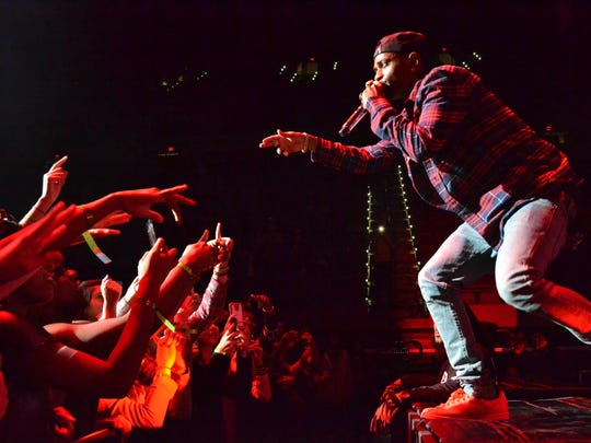Big Sean performs in Tallahassee last year.