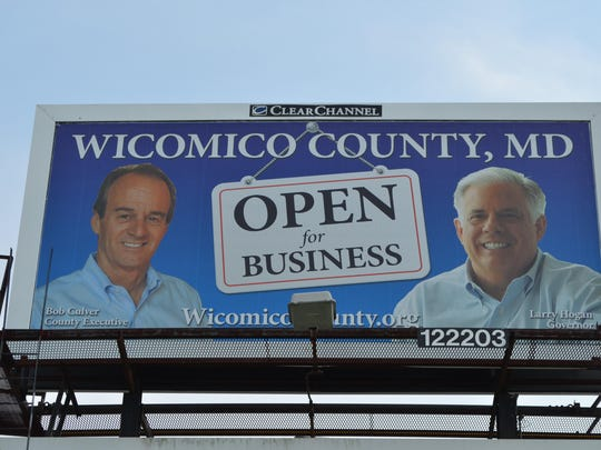 This billboard on Route 50 in Salisbury is part of