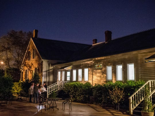 The courtyard of T'Frere's bed and breakfast in Lafayette, La., is pictured during a Sept. 22 tour.