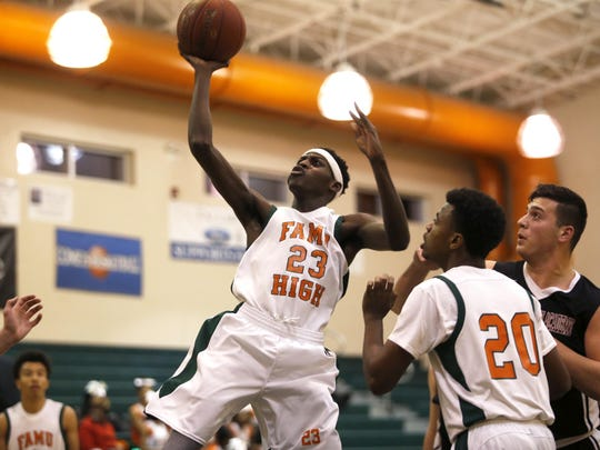 FAMU DRS' Kaliah Wooden puts up a shot against Christ's Church Academy from Jacksonville during their Regional Quarterfinal. Wooden is the Rattlers leading scorer entering Tuesday's Class 2A state semifinal.