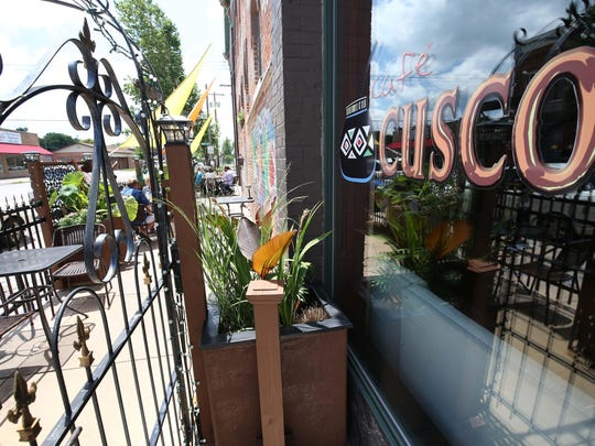Cafe Cusco is one of numerous restaurants on Commercial