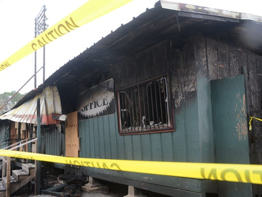 ANI Bringhurst Field On Saturday, Dec. 20, 2014, a fire destroyed the clubhouses and offices at Bringhurst Field. Tuesday, Dec. 30, 2014.-Melinda Martinez/mmartinez@thetowntalk.com
