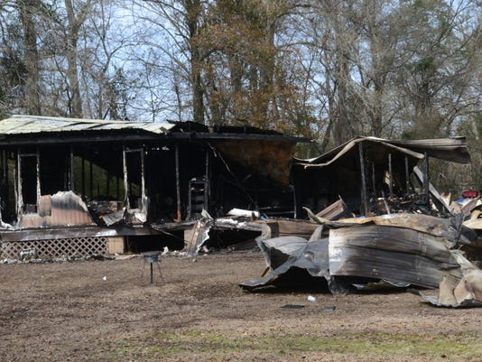 ANI Fire in Marksville A fire on Bill Belt Road in Marksville killed four people. Friday, Jan. 30, 2015.-Melinda Martinez/mmartinez@thetowntalk.com The Town Talk Gannett
