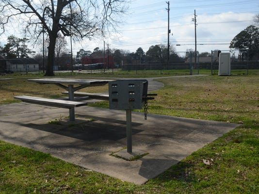 ANI Helen Black Park Those who use Helen Black park have to use a port-a-toilet. Thursday, Feb. 26, 2015. -Melinda Martinez/mmartinez@thetowntalk.com The Town Talk Gannett