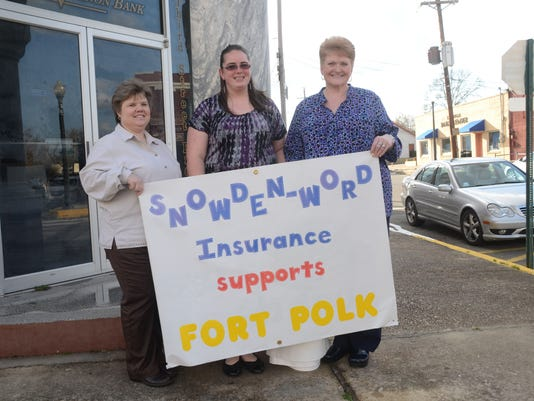 ANI Fort Polk Support Tania Parker (left), Sarah James and Vickie Green came out in support of Fort Polk Sunday, March 3, 2015.-Melinda Martinez/mmartinez@thetowntalk.com The Town Talk Gannett