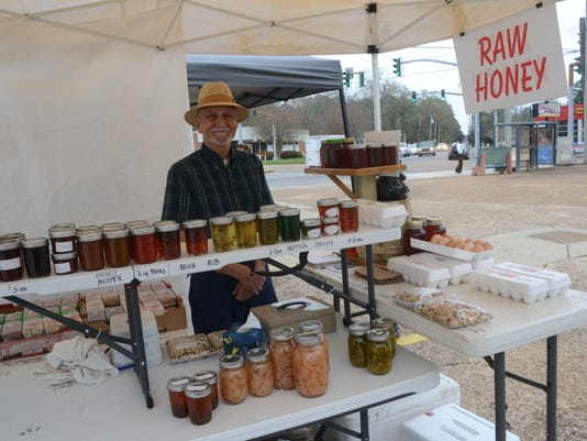 ANI Mid-Week Market Steve Saia sells jellies, honey and eggs at the Alexandria Mid-Week Market currently located on the corner of Jackson Street and Texas Avenue. The market will be moving beginning March 24 to a new location across from the First United M