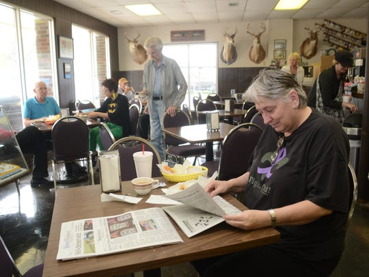 Terry B. McGuire is a regular at Harlow's Donut & Bakery. She has been going to the Pineville establishment for 18 years. It was a tradition with McGuire and her mother before her mother recently passed away.