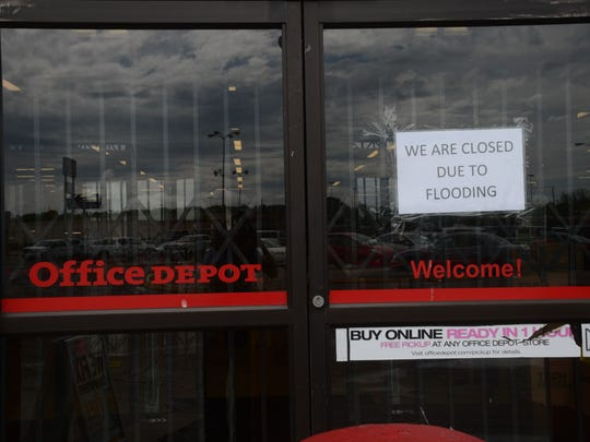 Office Depot, located right next to Ashley Furniture, was closed Friday due to flooding.
