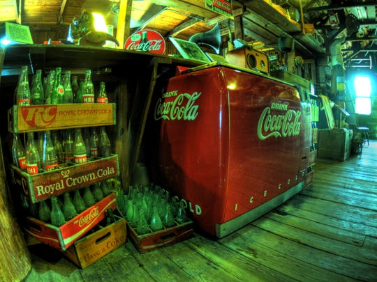 The first soda machine in the area came in 1945 to Smallwood's Store, which had the only electricity for 30 miles around.