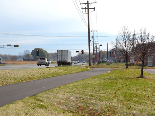 The Allouez Avenue Trail is among public facilities in Bellevue designated as areas where children may congregate, meaning registered sex offenders aren't allowed to live within 2,500 feet of them.