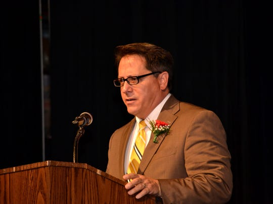 Ed Nahhat, inductee from the class of 1979, served as the keynote speaker at the 2014 Royal Oak High School Hall Fame ceremony.