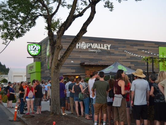 Hop Valley is one of the many craft breweries located in the Whiteaker District in Eugene Ore.