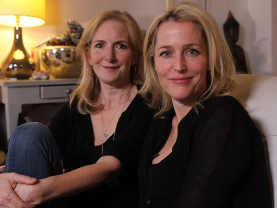 Gillian Anderson, foreground, and Jennifer Nadel are authors of 'We,' a book for women.