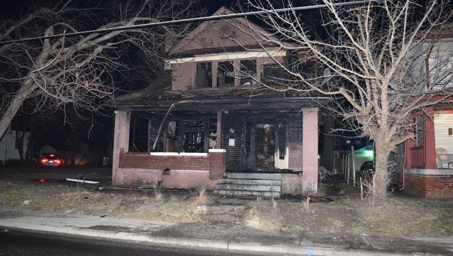 Neighbors told firefighters two squatters lit a fire in a home on the 800 block of N Rural Street to stay warm. When it got out of control the two men left.