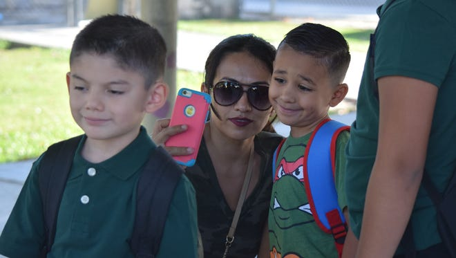 First day of school at John Kelley Elementary in Thermal on Wednesday, Aug. 17, 2016.