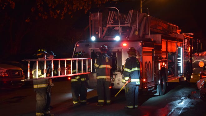Officials believe that an early Sunday fire at The Woods Apartments was intentionally set.