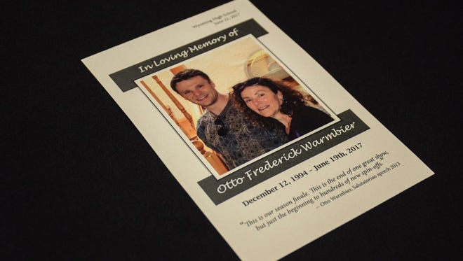 Program from today's Funeral Service for Otto Warmbier.  (Photo Credit: The Warmbier Family)