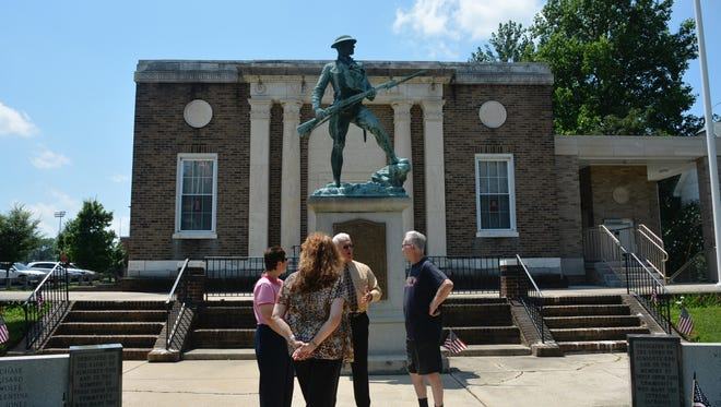 The World War I  memorial  statue in Burlington City has been designated one of the nation's top 100 centennial monuments marking the U.S. entry into that war 100 years ago.