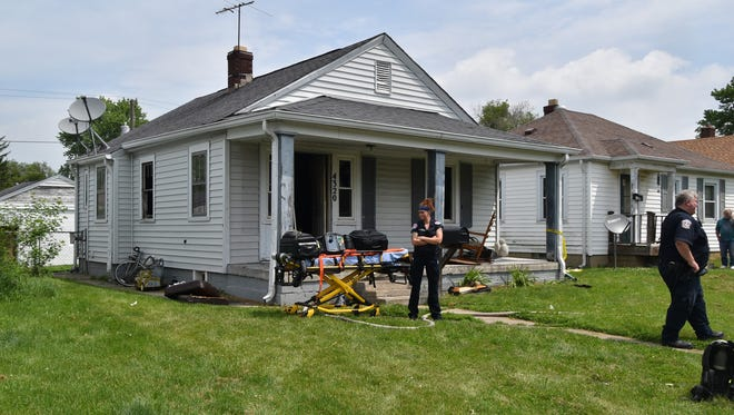 A 62-year-old Indianapolis man died in a fire Sunday at this home in the 4300 block of Fletcher Avenue.