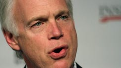 US Sen. Ron Johnson speaks during an interview with