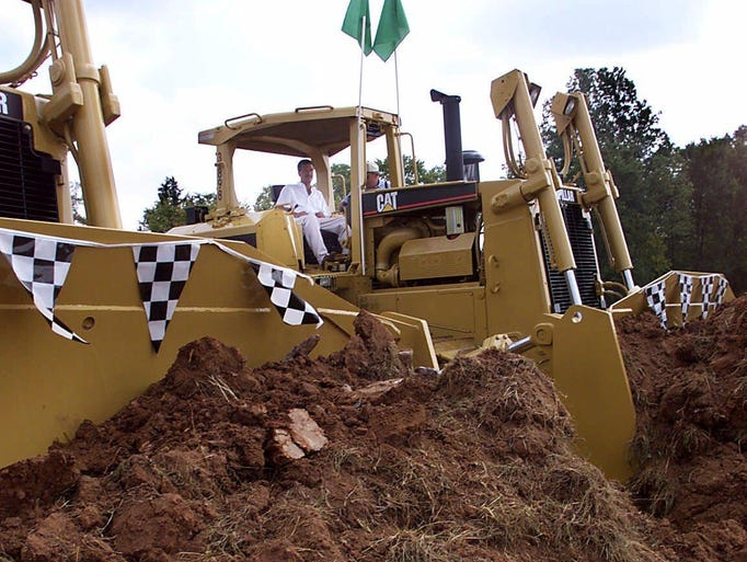 Work on the Nashville Superspeedway begins in the tiny rural community of Gladeville in Wilson County.