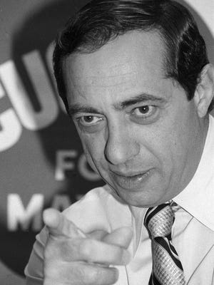 Mario Cuomo, seen here in 1977 in his failed run for mayor of New York City, served three terms as governor of New York. The progressive Democrat seriously considered a presidential run.