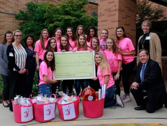 Hunterdon Central volleyball teams raise funds PHOTO CAPTION