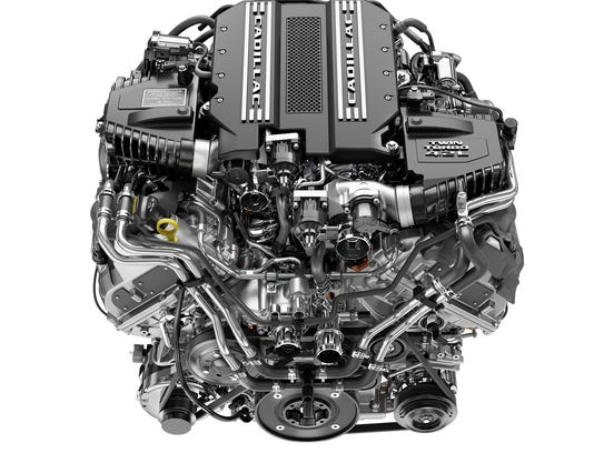 The engine on the 2019 Cadillac CT6 V-Sport, a 4.2L