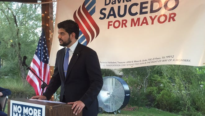 David Saucedo launched his campaign for El Paso mayor on Tuesday..