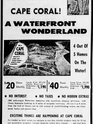 An ad in the News-Press in 1958 touted Cape Coral as