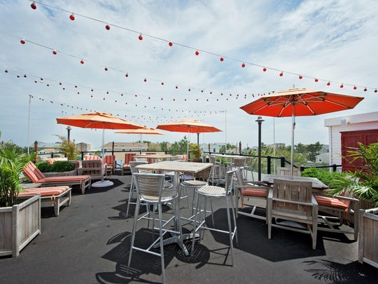 The rooftop patio at daddy O in Brant Beach.