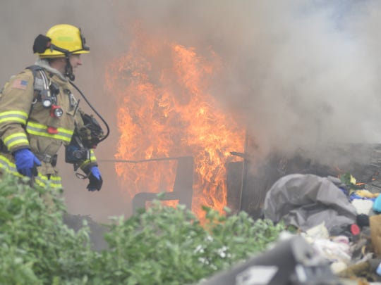 A fire destroyed a motor home early Wednesday morning near K Road and Burke Street in Visalia.