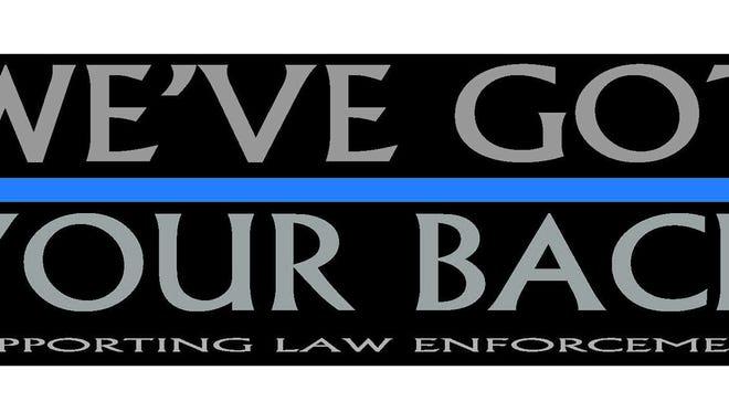 """We've Got Your Back"" prayer rally bumper sticker."