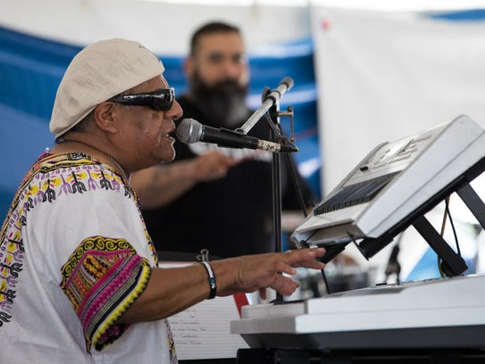 Latin Heart/Joe Revelez/S.A. perform on the CITGO North Stage during the 57th annual Texas Jazz Festival on Saturday, Oct. 21, 2017.