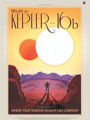 Kepler 16b vintage poster