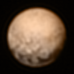 This image of Pluto was taken July 3, 2015, when the New Horizons probe was 7.8 million miles away. The spacecraft will fly by the dwarf planet July 14, 2015.