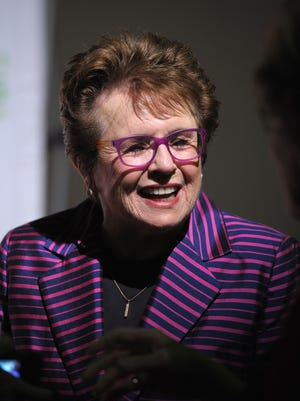 Women's Sports Foundation Founder and tennis legend Billie Jean King, shown here onstage during the 34th annual Salute to Women In Sports Awards in October in New York City, has been picked by President Obama to be part of the U.S. delegation to the Olympics in Sochi, Russia. Russian President Vladimir Putin has defended his country's anti-gay laws, while also saying gay athletes will not be targeted during the Games. King, the winner of 12 Grand Slam titles in tennis, is openly gay.