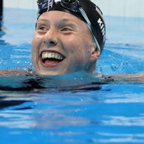 United States' Lilly King smiles after a semifinal of the women's 200-meter breaststroke during the swimming competitions at the 2016 Summer Olympics, Wednesday, Aug. 10, 2016, in Rio de Janeiro, Brazil. (AP Photo/Lee Jin-man)