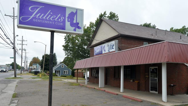 Juliet's Gentlemen's Club, 2022 W. Eighth St. in Erie, is shown on Wednesday, the day after one of its former exotic dancers filed a wage-related lawsuit against the club in federal court.