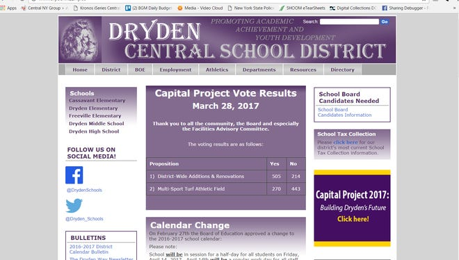 The capital project vote results were posted on the district website on Tuesday.