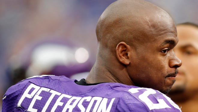 Vikings RB Adrian Peterson played two days after his son died Oct. 11.