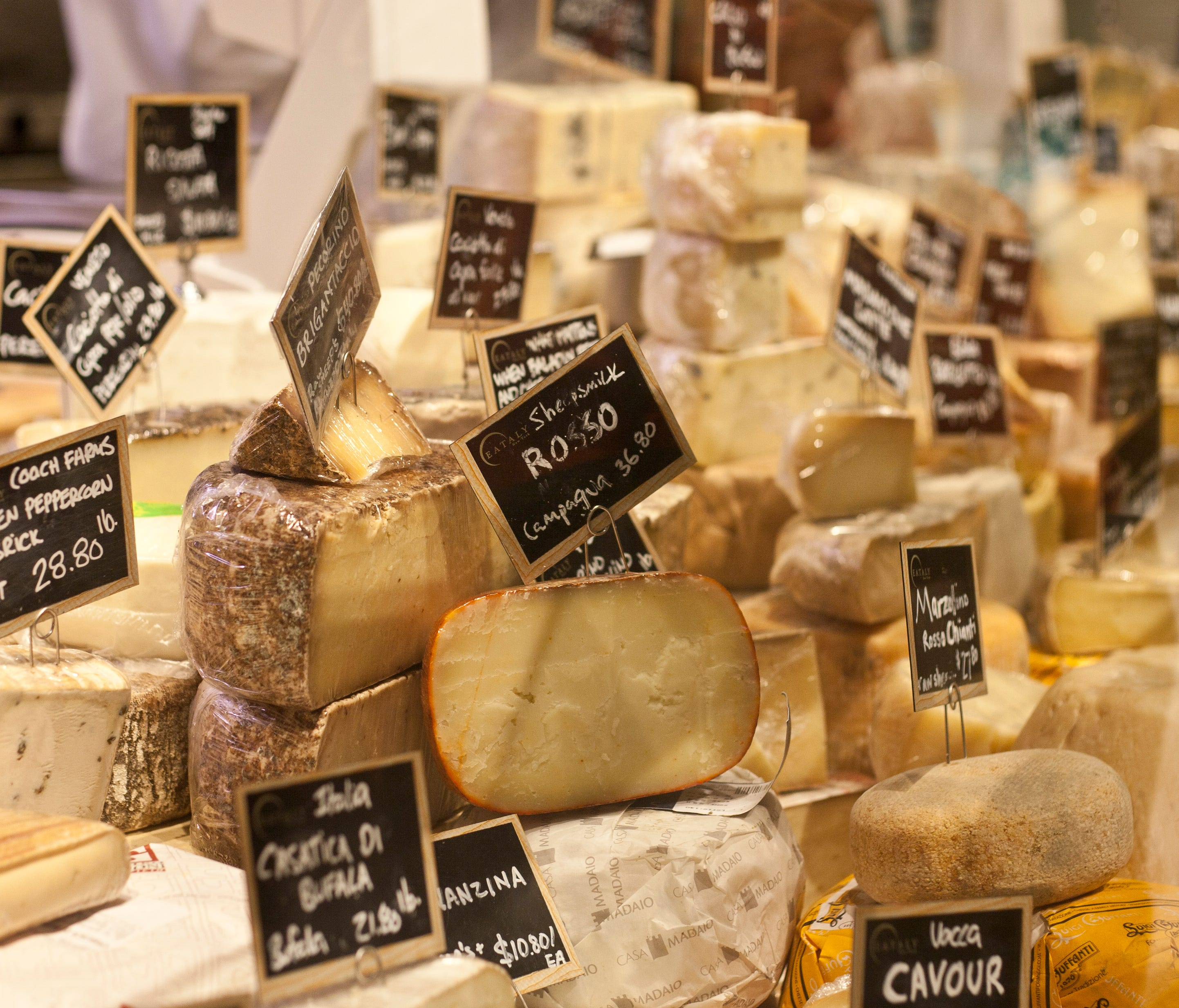 Pilgrimage here to choose from more than 300 cheeses from Italy and America. A cheesemonger can help you decide.