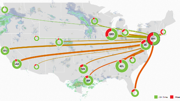 Flightaware Misery Map This real time interactive map shows you just how miserable your