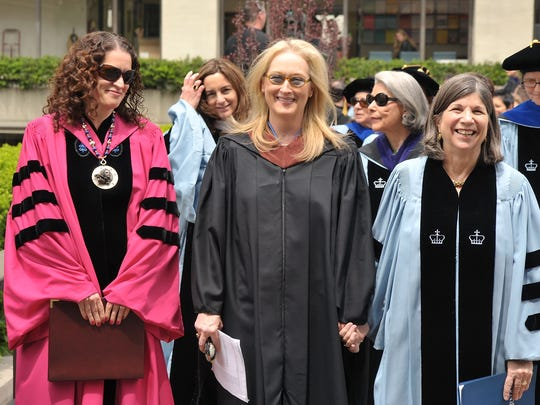 Barnard President Debora L. Spar, actress Meryl Streep