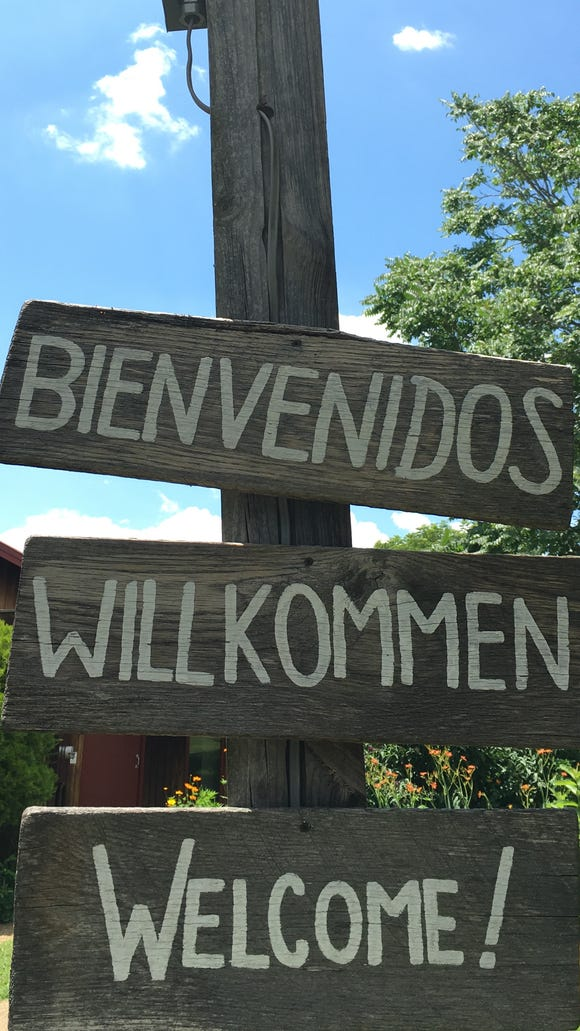 A sign welcomes retreat participants.